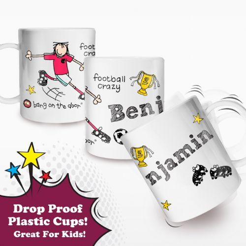 Personalised Football Crazy Plastic Cup